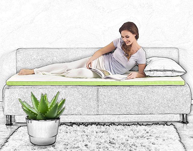 Aloe Vera Над-душек со 5 зони